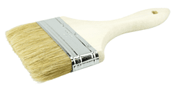 "Picture of 4"" Vortec Pro Chip & Oil Brush, 3/8"" Thick, White Bristle, 1-3/4"" Trim Length, Wood Handle"