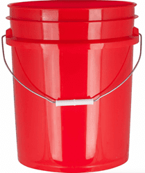 Picture of Bucket Plastic Gallon 5 - Red