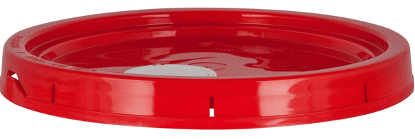 Picture of Bucket Plastic Gallon 5 Lid - Red
