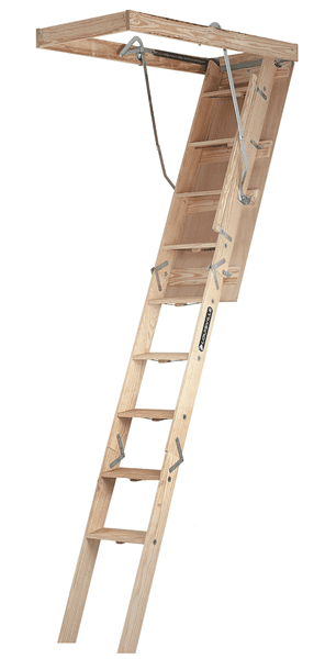 Picture of Louisville CL224P Wood Attic Ladder, Type IA, 300 lb Load Capacity