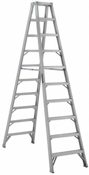 Picture of 14 ft Louisville AM1014 Aluminum Twin Step Ladder, Type IA, 300 lb Load Capacity