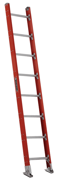 Picture of 16 ft Louisville FE7116 Fiberglass Straight Ladder, Type IA, 300 lb Load Capacity