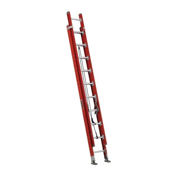 Picture of 20 ft Louisville FE7220 Fiberglass Extension Ladder, Type IA, 300 lb Load Capacity, w/ LeveLock Installed