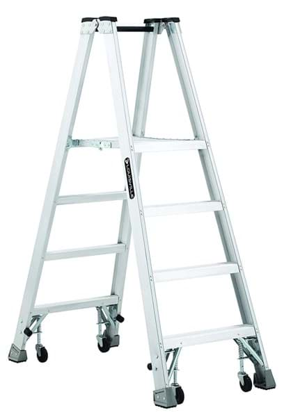 Picture of 8 ft Louisville AMP1008-4C Aluminum Twin Platform Step Ladder, Type IA, 300 lb Load Capacity