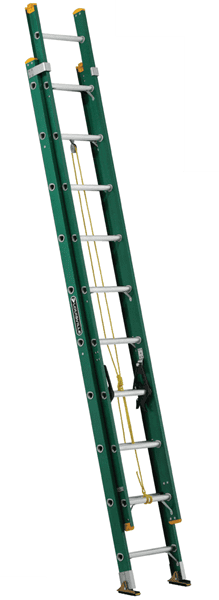 Picture of 20 ft Louisville FE0620 Fiberglass Extension Ladder, Type II, 225 lb Load Capacity