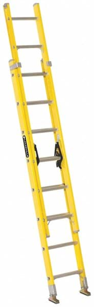 Picture of 24 ft Louisville FE1724 Fiberglass Extension Ladder, Type I, 250 lb Load Capacity, w/Leveler