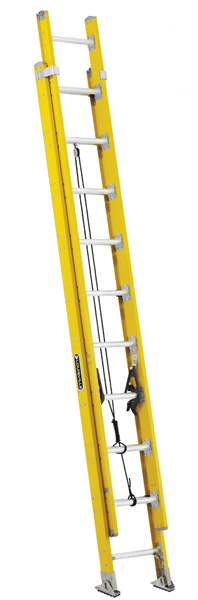 Picture of 24 ft Louisville FE4624HD Fiberglass Extension Ladder, Type IAA, 375 lb Load Capacity