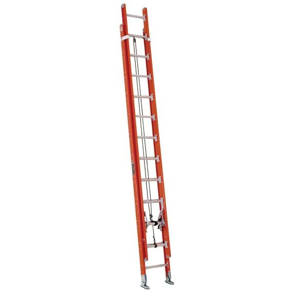 Picture of 28 ft Louisville FE7228 Fiberglass Extension Ladder, Type IA, 300 lb Load Capacity, w/ LAD LEV