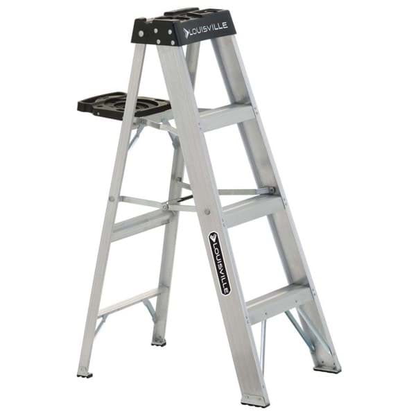 Picture of 4 ft Louisville AS3004 Aluminum Step Ladder, Type IA, 300 lb Load Capacity