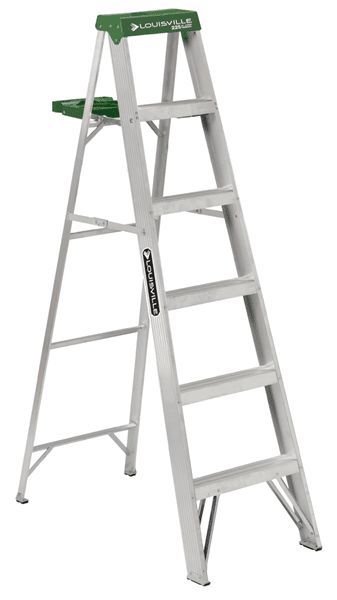 Picture of 6 ft Louisville AS4006 Aluminum Step Ladder, Type II, 225 lb Load Capacity