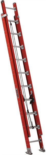 Picture of 16 ft Louisville FE7616 Fiberglass Extension Ladder, Type IA, 300 lb Load Capacity