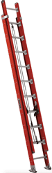 Picture of 20 ft Louisville FE7620 Fiberglass Extension Ladder, Type IA, 300 lb Load Capacity, w/ RPG