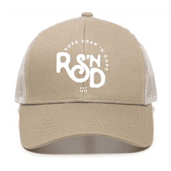 Picture of RSND Snapback Hat - Khaki/White