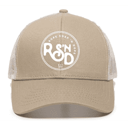 Picture of RSND Circle Snapback Hat - Khaki/White
