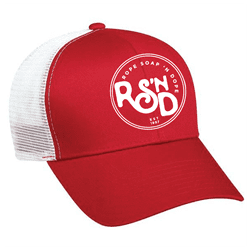 Picture of RSND Circle Snapback Hat - Red/White