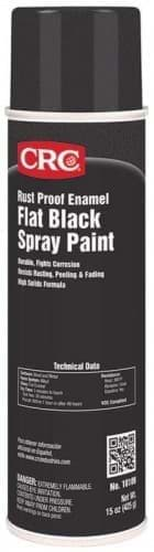 Picture of Rust Proof Enamel Spray Paint-Flat Black, 15 Wt Oz