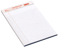 "Picture of Staples White Legal Pad - 5"" x 8"""