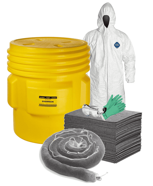 Picture of Spill Kit, Oil and Water, 95 Gallon w/ PPE for Two People